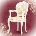 ロココ調のアンティークひじ付き椅子、フランシスカ